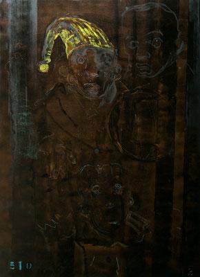 """Alpträume 1-4"", je 180x130cm, Mischtechnik auf LW, 2010"