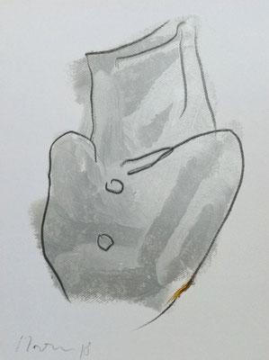 """""""O.T."""", A4, Graphit auf Ölkreide auf Papier, 2018"""