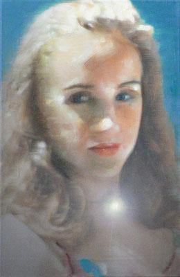 """""""LA. girl 1"""", 60x39cm, Öl auf LW, 2004"""