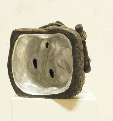 """""""void-silver"""", Gips bemalt, 2012"""