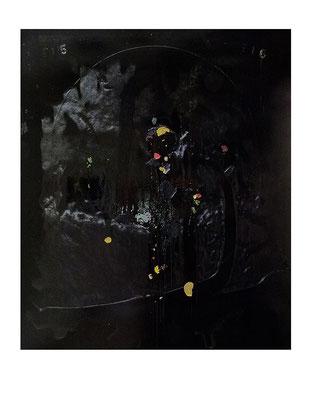 """Narziss"", 190x160cm, Öl / Bitumen auf LW, 2016"