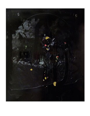 """""""Narziss"""", 190x160cm, Öl / Bitumen auf LW, 2016 (Privatsammlung, Deutschland/München)"""