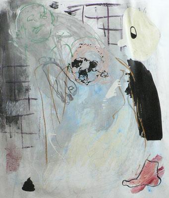 """""""Mr.Stinkfuß"""", 170x150cm, Mischtechnik auf LW, 2014"""