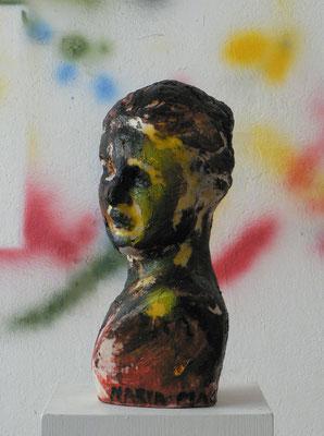 """""""Maria Magdalena"""", h.37cm, Öl auf Wachs auf Terrakotta, 2008 (Sammlung des Landes OÖ.)"""