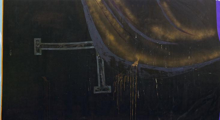 """""""Politbühne"""", 330x180cm, Mischtechnik auf LW, 2012"""