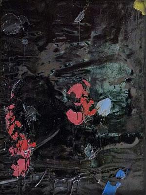 """Ophelia nach Courbet"", 80x60cm, Öl, Bitumen auf Leinwand, 2016"