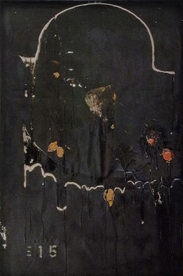"""Held"", 120x80cm, Öl, Bitumen auf Leinwand, 2015"