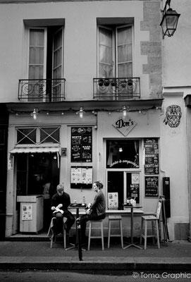 パリ、マレ地区にて