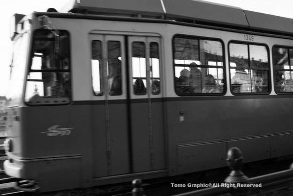 プラハ同様路面電車が有名