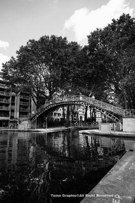 サン・マルタン運河に架かる橋