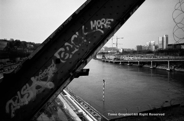 セーベール橋からセガン島を望む