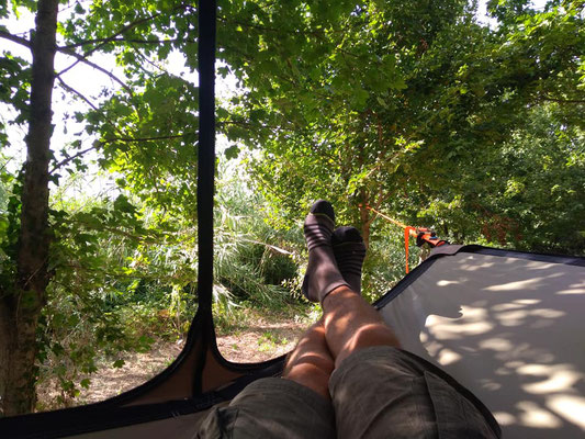 Relax in tree tents