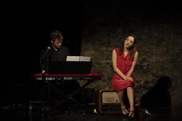 """Heute Abend: Lola Blau"" (R.: P. Raffalt), Festspiele Wangen i.A. 2018 (mit Rafael Wagner) (Foto: C. Morlok)"