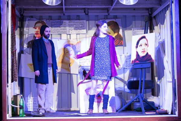 """""""Das Leben der Bohème"""" (R.: Doris Harder), Theater zum Fürchten 2015 (mit Philipp Stix), (Foto: Bettina Frenzel)"""