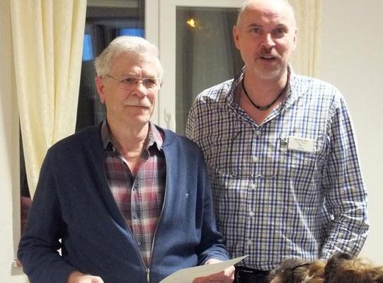 Ehrung Gerd Reeder für 30 Jahre Mitgliedschaft