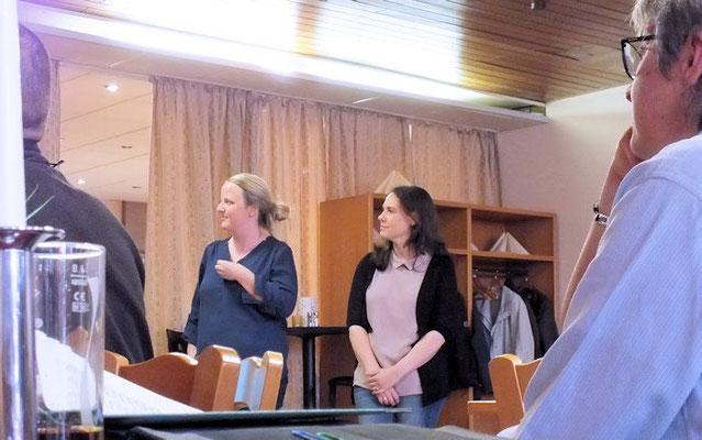 Jutta Heim (links) und Gamila Nickel (rechts) leiten die neue Kindergruppe.