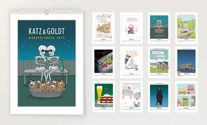 Katz & Goldt-Wandkalender 2019