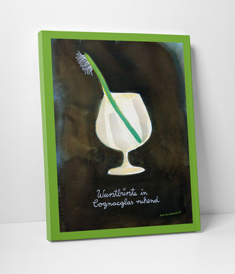"Leinwanddruck ""Wurstbürste in Cognacglas ruhend"""
