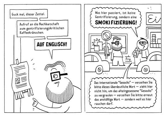 """Originalzeichnung """"Smokifizierung"""""""