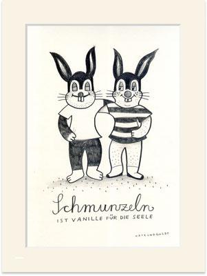 """Originalzeichnung """"Schmunzeln ist Vanille für die Seele"""""""