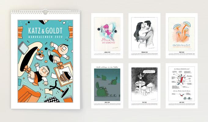 Katz & Goldt-Wandkalender 2020