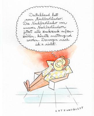 """Originalzeichnung """"Neun Nachbarländer"""""""
