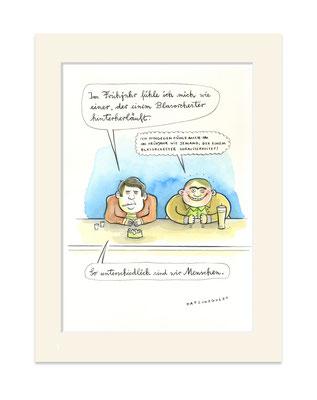 """Originalzeichnung """"Blasorchester"""""""