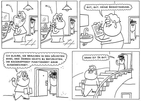 """Originalzeichnung """"Die Hausverwaltung im Morgengrauen"""""""