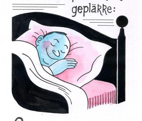"""Originalzeichnung """"Statt Soul- und Pop- und Rockgeplärre: Genießen wir die Ausgangssperre!"""""""