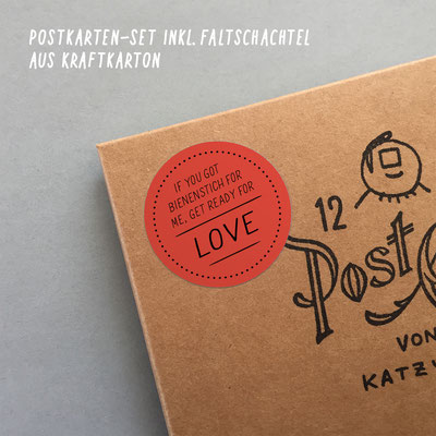"Postkarten-Set ""Get ready for love"""