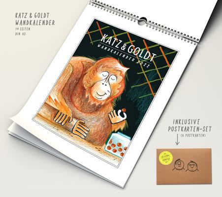 Katz & Goldt-Wandkalender 2022