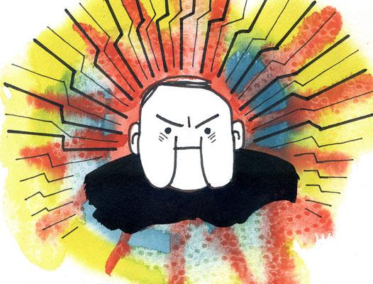 """Originalzeichnung """"Ich bin der wütende Knilch aus Staffel 7 der Serie """"Der wütende Knilch"""""""