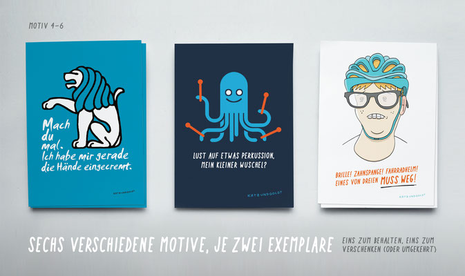 "Postkarten-Set ""Konkrete Abneigung"""