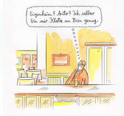"""Originalzeichnung """"Klotz am Bein"""""""