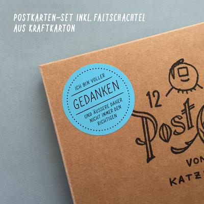 """Postkarten-Set """"Gedanken"""""""