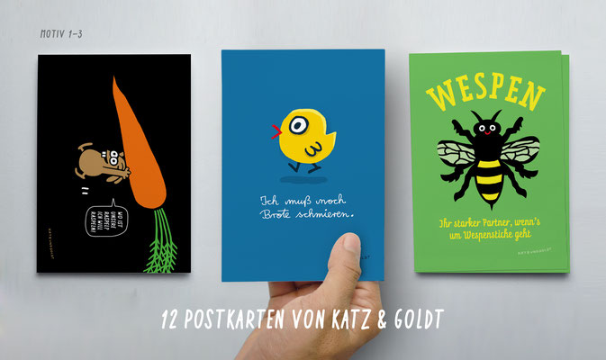 """Postkarten-Set """"Ich muß noch Brote schmieren"""""""