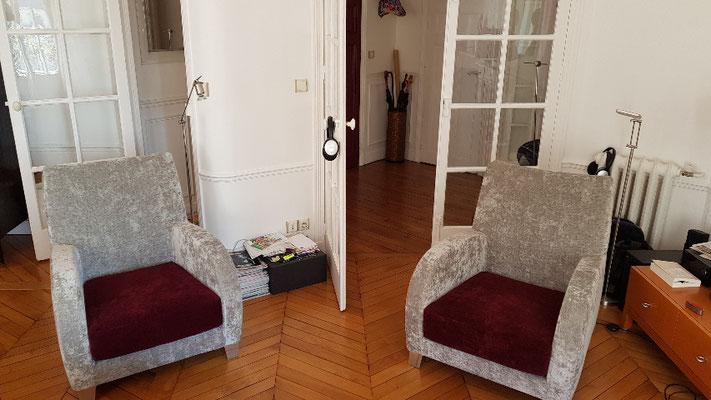 Réfection fauteuil bridge en Tissu reff etoile casal