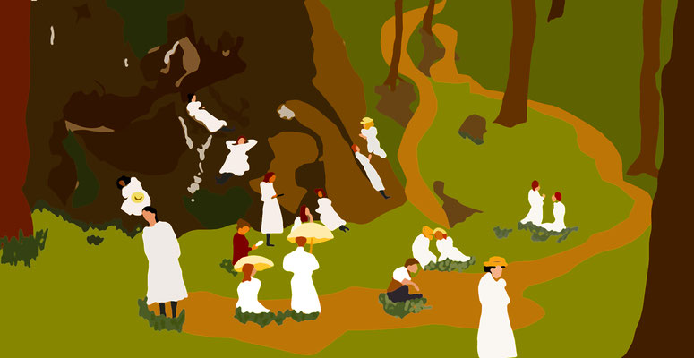 Picnic at hanging rock - Digital print on acrylic panel