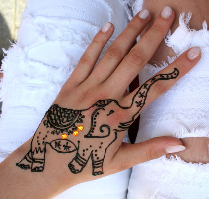 henna elefant
