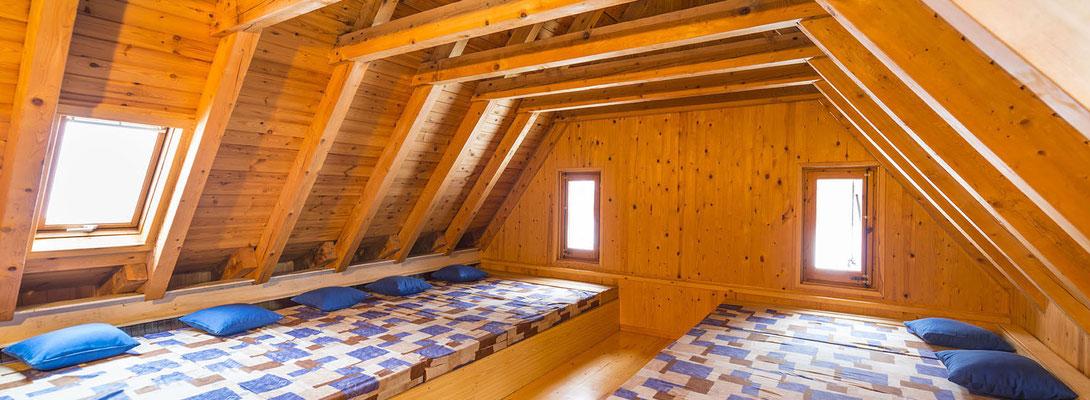 dortoir du refuge de Fornet, Alos d'Isil, Espagne