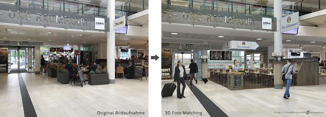 Schlemmerwirt Airport Bremen 3D Visualisierung mit Bild-Komposition
