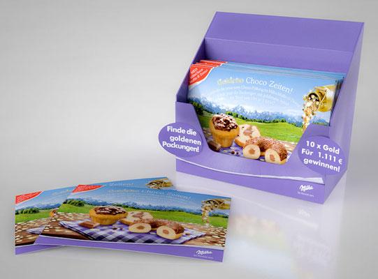 Postkarten Dispenser Visualisation - Milka