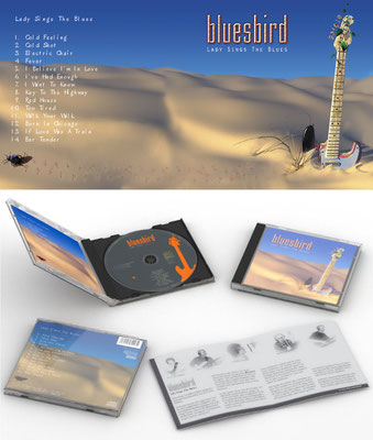 CD Label & Cover Design mit 3D Rendering