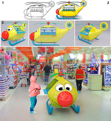 AHT Kinderfreundliche Eistruhe / Von Ideenskizze bis 3D Visualisation