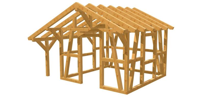 Gartenhaus bauen 3,5m x 3,5m