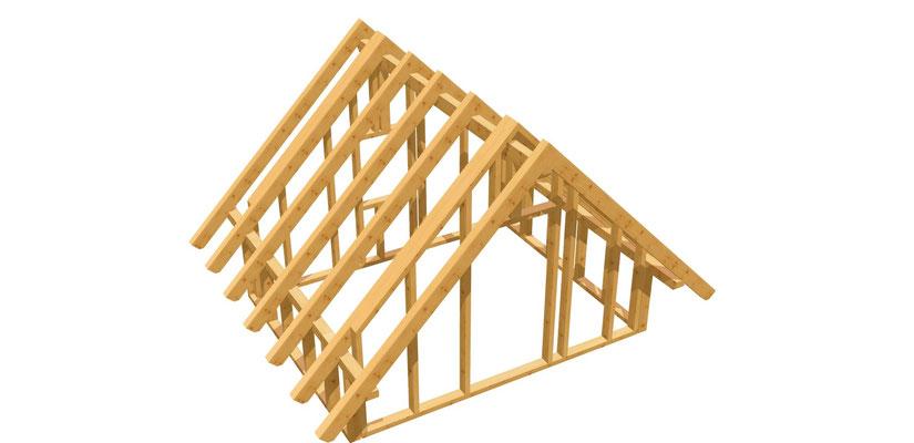 Bauplan Satteldach-Gartenhütte 3m x 3,8m