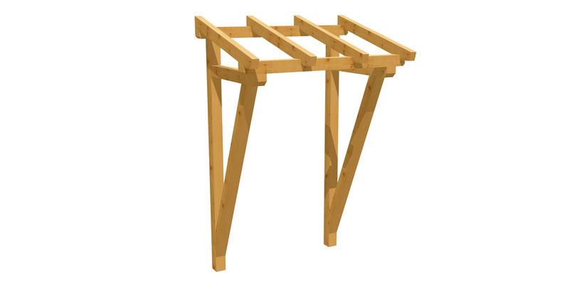 Vordach Holz Bauplan 1,2m x 1,6m