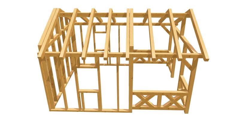 Gartenhaus günstig bauen Anleitung 5m x 3,8m