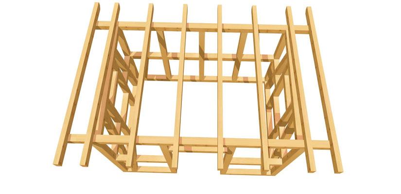 Gartenhaus Holz selber bauen Anleitung 3,5m x 2,5m