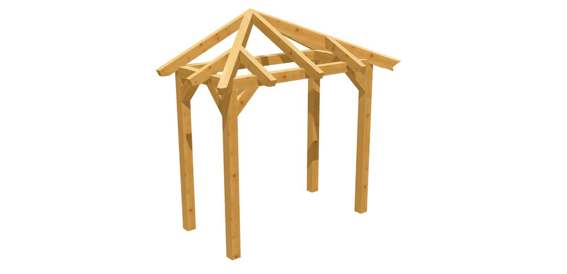Haustür-Vordach Bauplan 2m x 2,24m